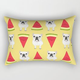 Frenchies love watermelon too! Rectangular Pillow