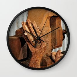 Hook and Vise Wall Clock
