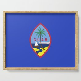 Guam flag emblem Serving Tray