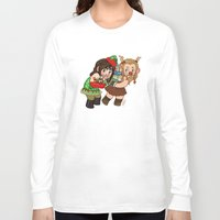 fili Long Sleeve T-shirts featuring Holiday Fili and Kili by Hattie Hedgehog