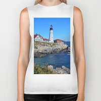 maine Biker Tanks featuring Maine Icon by Exquisite Photography by Lanis Rossi