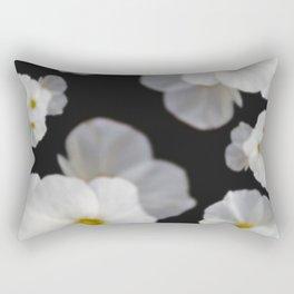 Dreaming white blossom flower Rectangular Pillow
