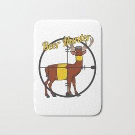 Deer Beer Bottle Cross Hair Hunter Shooting Party Bar Alcohol Gift Idea Bath Mat
