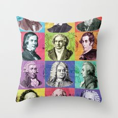 Composers Compilation Throw Pillow