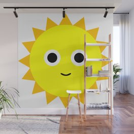 Happy Sun Wall Mural