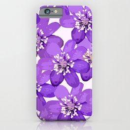 Purple wildflowers on a white background - spring atmosphere #decor #society6 #buyart iPhone Case