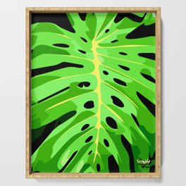 Monstera Leaf Serving Tray