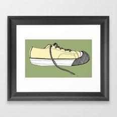 Sneaker in profile Framed Art Print