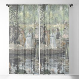 Pierre-Auguste Renoir - La Grenouillère Sheer Curtain