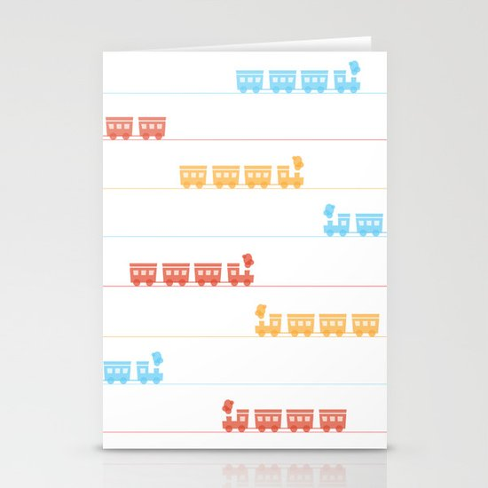 The Essential Patterns of Childhood - Train Stationery Cards