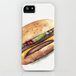 Color pencil Hamburger iPhone Case