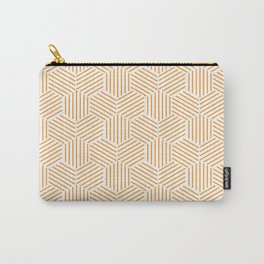 Hexagons Pattern on Orange Carry-All Pouch
