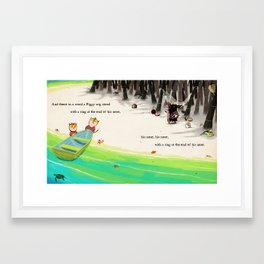with a ring at the end of his nose Framed Art Print