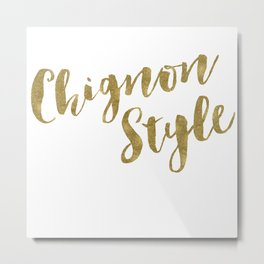 Chignon Style Metal Print