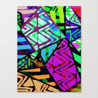 honeycomb Canvas Prints featuring Honeycomb by Sarah Bagshaw