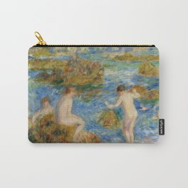 "Auguste Renoir ""Garçons nus dans les rochers à Guernsey"" Carry-All Pouch"