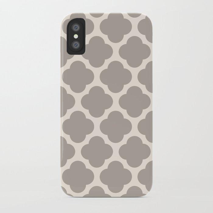 gray clover iPhone Case