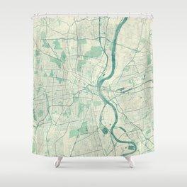 Hartford Map Blue Vintage Shower Curtain