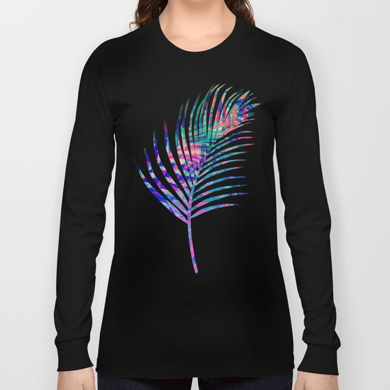 Colorful abstract palm leaves 2 Long Sleeve T-shirt