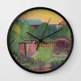 Time to Bring in the Clothes Wall Clock