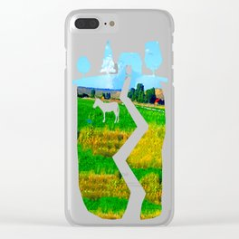 Nestled in the Valley:  Smoke on the Horizon Clear iPhone Case