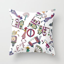 London is calling Throw Pillow