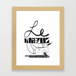 Le Danger Framed Art Print