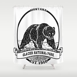 Glacier National Park Emblem Shower Curtain