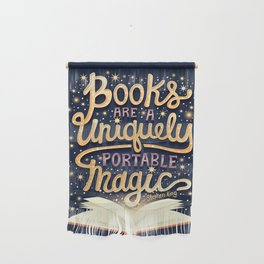 Books are magic Wall Hanging
