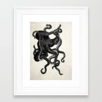 octopus Framed Art Prints featuring Octopus by Nicklas Gustafsson
