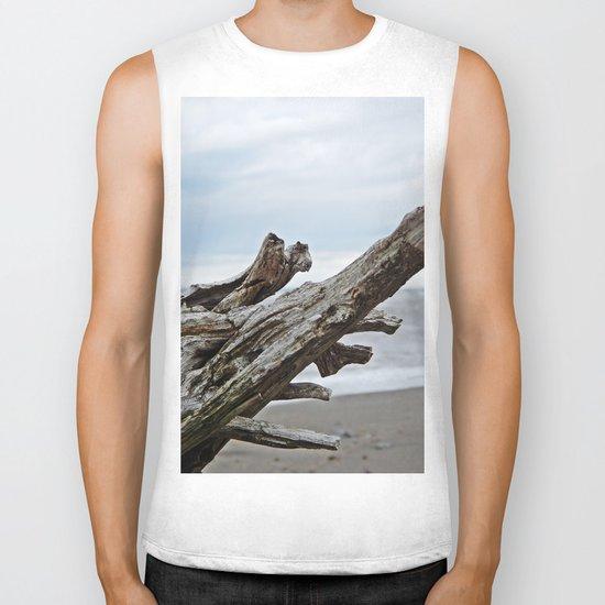 Natural Driftwood Biker Tank