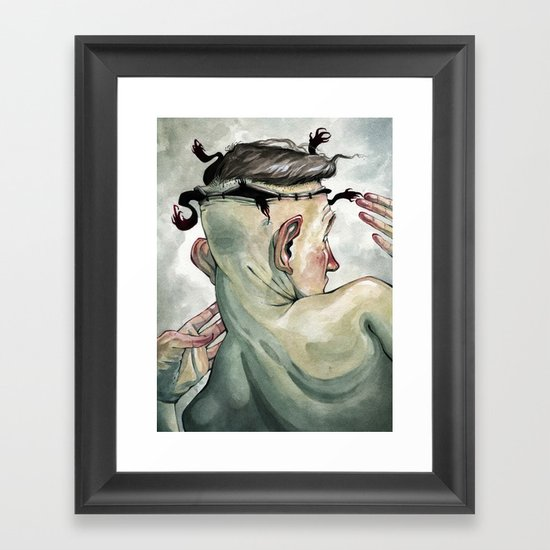 All in My Head, but Out of My Mind Framed Art Print