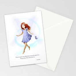 Please Little Fairy, Come Visit Me Stationery Cards