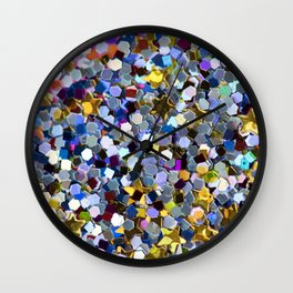 Rainbow Sequins Wall Clock
