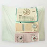 radio Wall Tapestries featuring Radio Stations by Cassia Beck