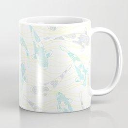 dotted koi shoal and yellow waves Coffee Mug