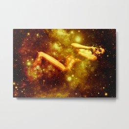 Golden Galaxy Woman : Nude Art Metal Print