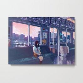 Tokyo Metro Line Metal Print