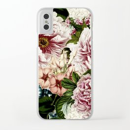 Vintage Peony and Ipomea Pattern - Smelling Dreams Clear iPhone Case
