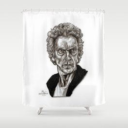 Peter Capaldi - Doctor Who - Drawing Shower Curtain