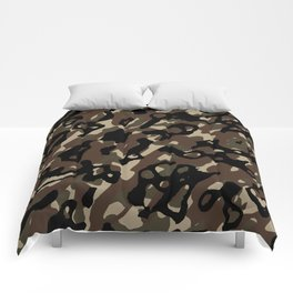 Camouflage Abstract Comforters
