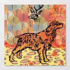 Hunting dog pop art Canvas Print