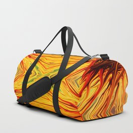 Orange Firethorn Quad III by Chris Sparks Duffle Bag