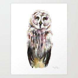 Gary The Great Gary Owl. Minimalist Style. Art Print