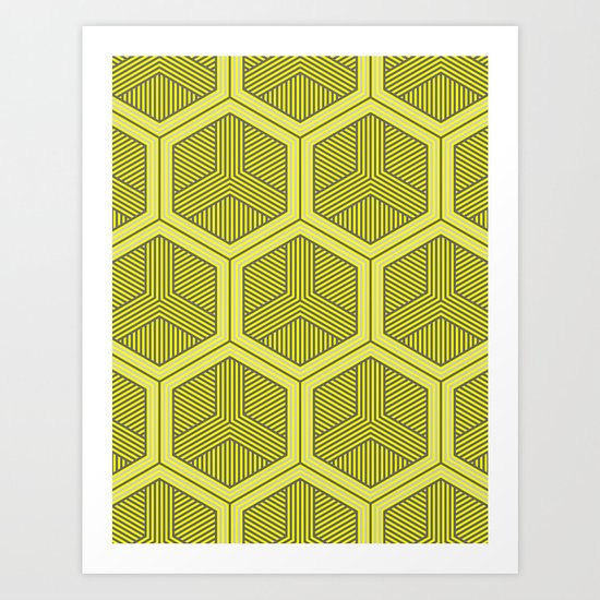 HEXAGON NO. 3 Art Print