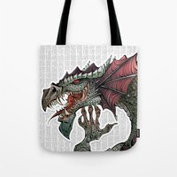 dragon Tote Bags featuring dragon by Erdogan Ulker
