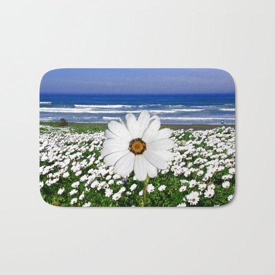 White Spring Bath Mat