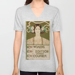 1895 Buffalo Courier for women  New York Unisex V-Neck