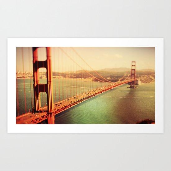 Golden Gate Bride Art Print
