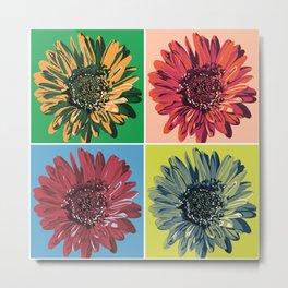 Pop Art Flower Metal Print
